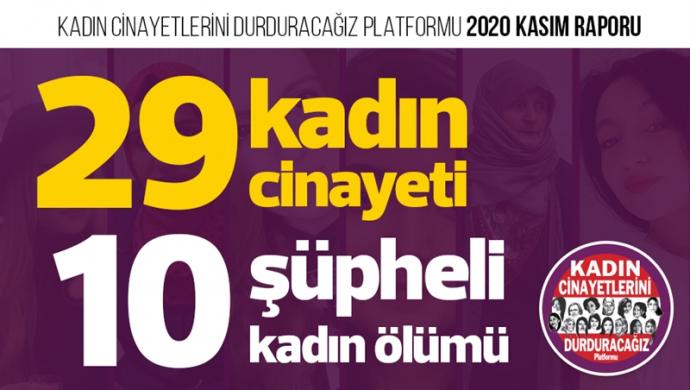 KCDP: Kasım ayında 29 kadın katledildi