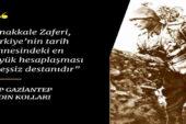 CHP Gaziantep Kadın Kolları: Çanakkale zaferi tarih sahnesindeki eşsiz destandır